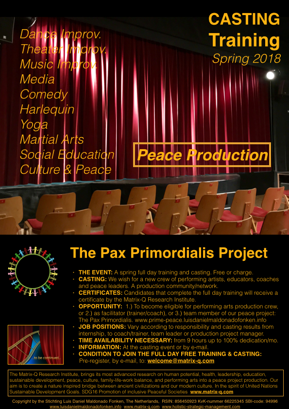 The Pax-Primordialis Project 2018.001