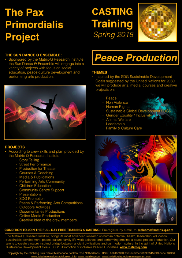 The Pax-Primordialis Project 2018.003